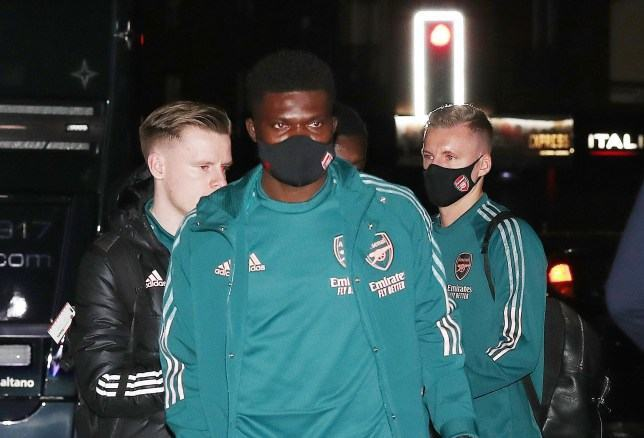 Thomas Partey spotted with first team squad in Manchester ahead of Arsenal debut - Bóng Đá